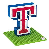 Forever Collectibles Texas Rangers BRXLZ 3D Logo Puzzle Set