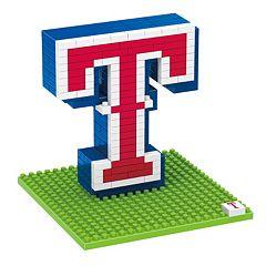 Forever Collectibles Texas Rangers BRXLZ 3D Logo Puzzle Set