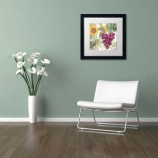 Trademark Fine Art Dolcetto II Black Framed Wall Art