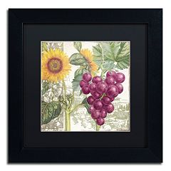 Trademark Fine Art Dolcetto II Black Framed Wall Art