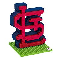 Forever Collectibles St. Louis Cardinals BRXLZ 3D Logo Puzzle Set