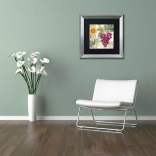 Trademark Fine Art Dolcetto II Silver Finish Framed Wall Art
