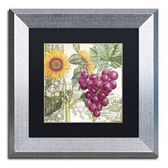 Trademark Fine Art Dolcetto II Silver Finish Framed Wall Art