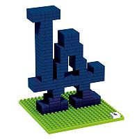 Forever Collectibles Los Angeles Dodgers BRXLZ 3D Logo Puzzle Set