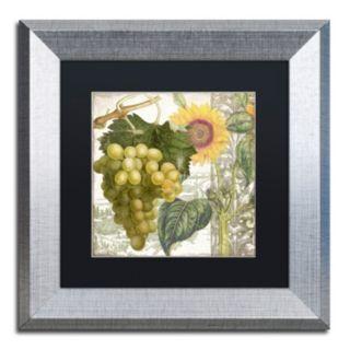 Trademark Fine Art Dolcetto III Silver Finish Framed Wall Art