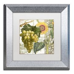 Trademark Fine Art Dolcetto III Silver Finish Framed Wall Art
