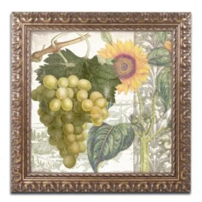 Trademark Fine Art Dolcetto III Washed Finish Framed Wall Art