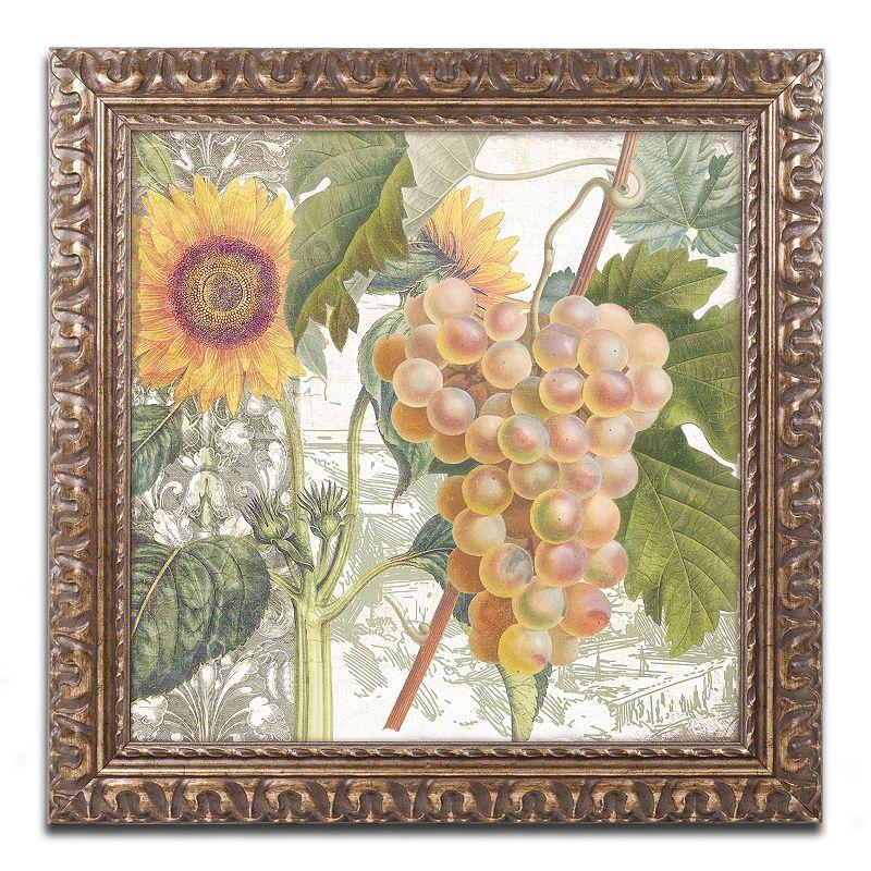 Trademark Fine Art Dolcetto IV Ornate Framed Wall Art, Green, 11X11