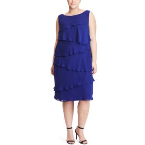 Plus Size Chaps Tiered Georgette Sheath Dress!