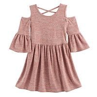 Girls 7-16 My Michelle Knit Cold Shoulder Dress