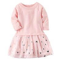 Toddler Girl Carter's Pink & Bows Tutu Dress