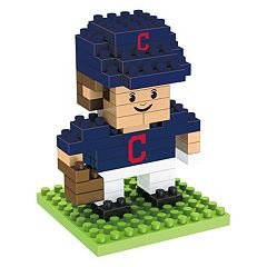 Forever Collectibles Cleveland Indians BRXLZ 3D Mini Player Puzzle Set