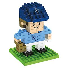 Forever Collectibles Kansas City Royals BRXLZ 3D Mini Player Puzzle Set