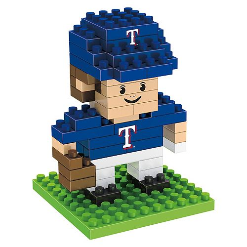 Forever Collectibles Texas Rangers BRXLZ 3D Mini Player Puzzle Set