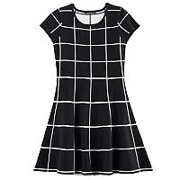 Girls 7-16 My Michelle Geo Pattern Sweater Dress