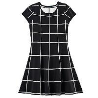 Girls 7-16 My Michelle Geo Pattern Sweater Dress