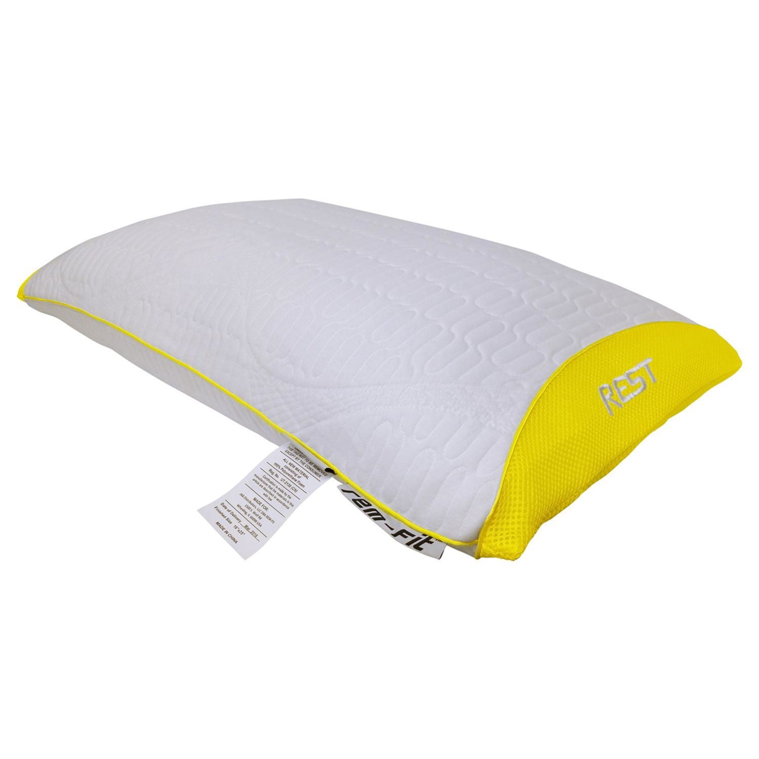 protectabed remfit rest 100 series hybrid stomach sleeper pillow