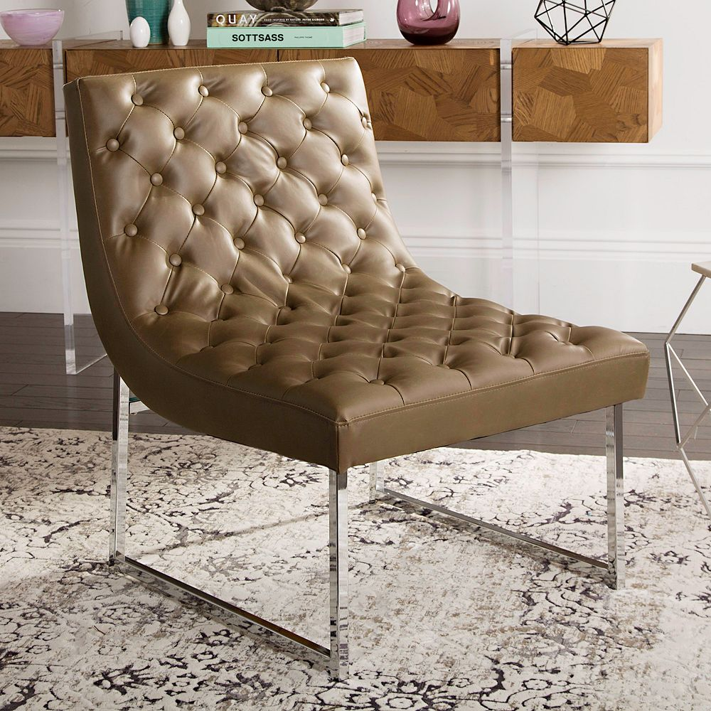 Wondrous Safavieh Hadley Faux Leather Accent Chair Ocoug Best Dining Table And Chair Ideas Images Ocougorg