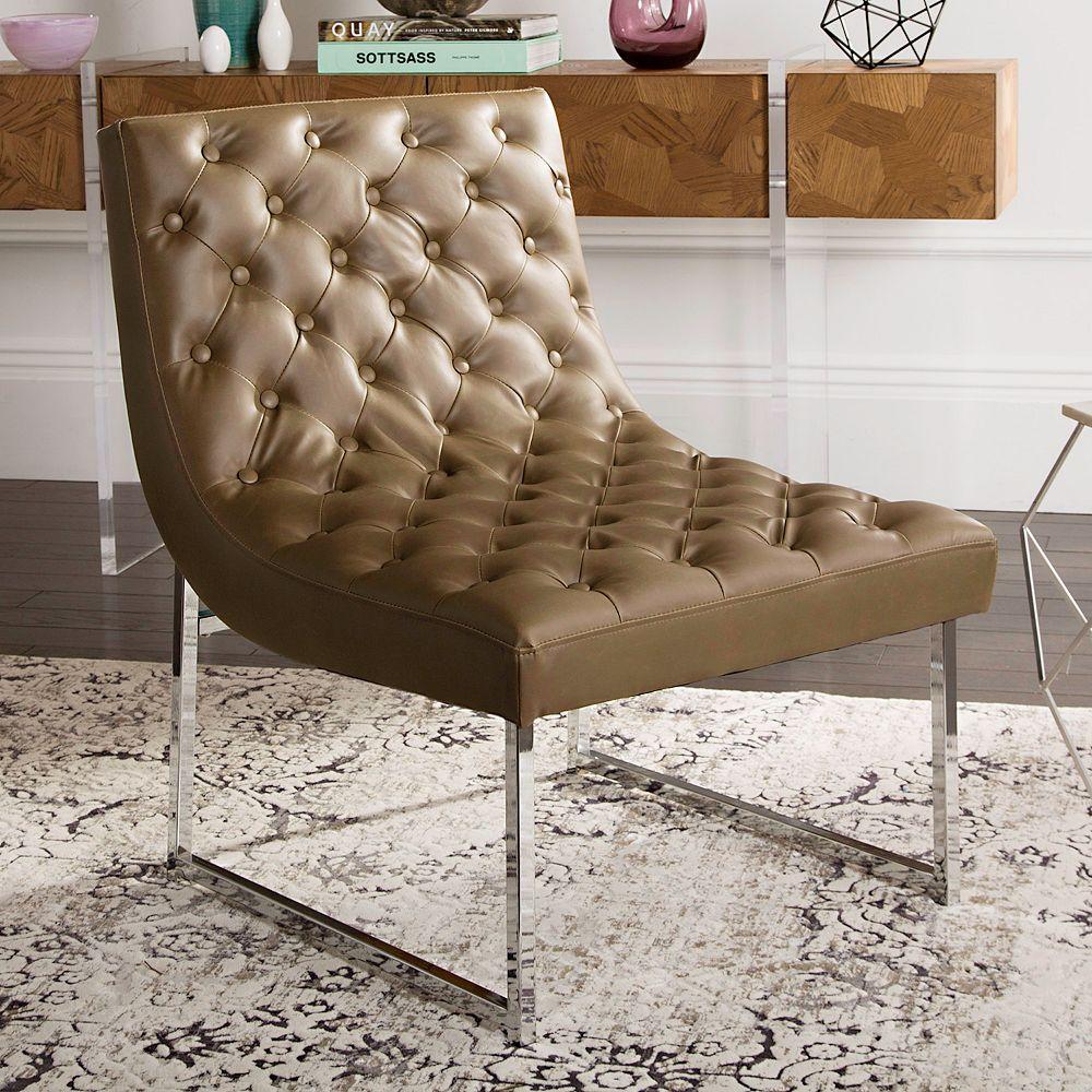 Sensational Safavieh Hadley Faux Leather Accent Chair Creativecarmelina Interior Chair Design Creativecarmelinacom