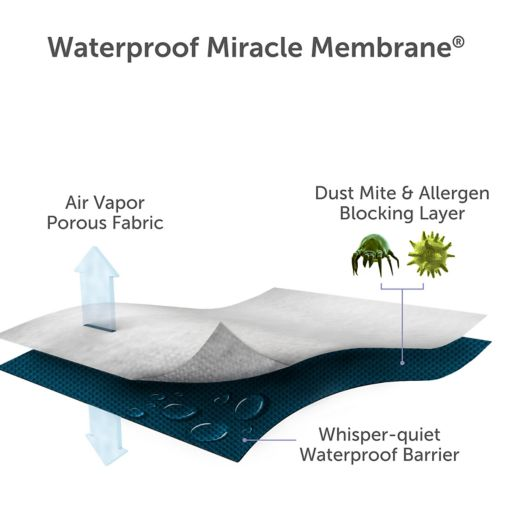 Protect-A-Bed Basic Smooth Waterproof Mattress Protector