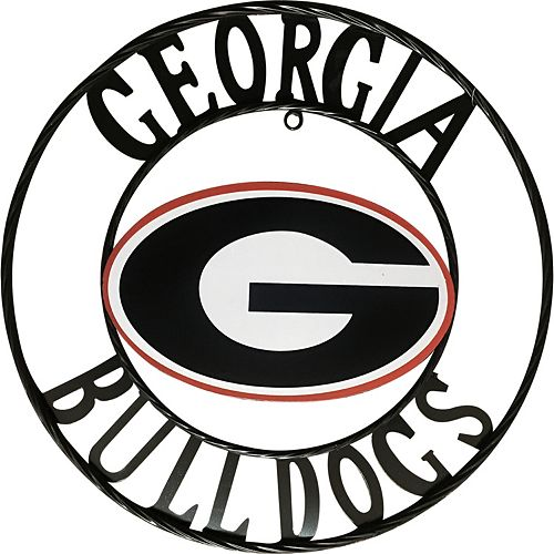 Georgia Bulldogs 18-Inch Wrought Iron Wall Décor