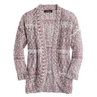 Girls 7-16 Sugar Rush Open-Front Crochet Back Cardigan