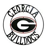 Georgia Bulldogs 24-Inch Wrought Iron Wall Décor