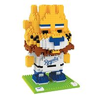 Forever Collectibles Kansas City Royals BRXLZ 3D Mascot Puzzle Set