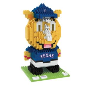Forever Collectibles Texas Rangers BRXLZ 3D Mascot Puzzle Set