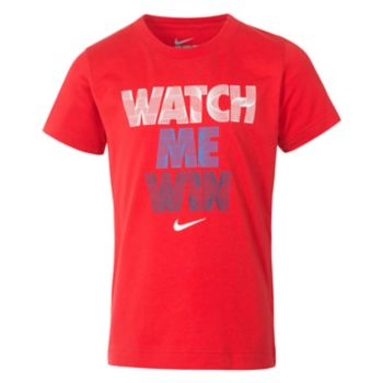 "Boys 4-7 Nike ""Watch Me Win"" Graphic Tee"