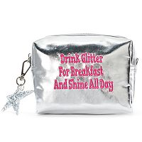 SO® Metallic Embroidered Phrase Coin Purse