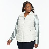 Plus Size Tek Gear Hooded Puffer Vest