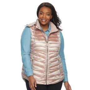 Plus Size Tek Gear Hooded Puffer Vest
