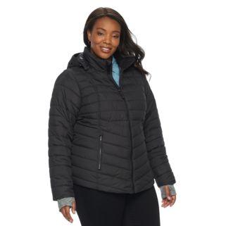 Plus Size Tek Gear Hooded Puffer Jacket