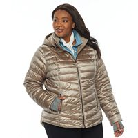 Plus Size Tek Gear Hooded Puffer Jacket