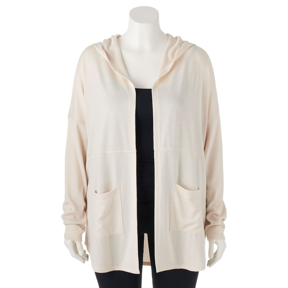 Plus Size Mudd® Hooded Cardigan