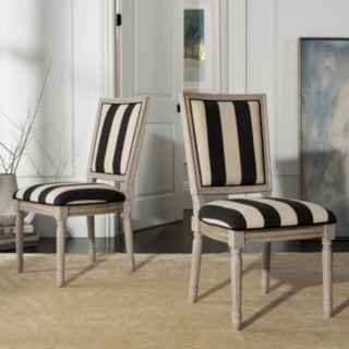 Safavieh Buchanan Striped Dining Chair 2-piece Set