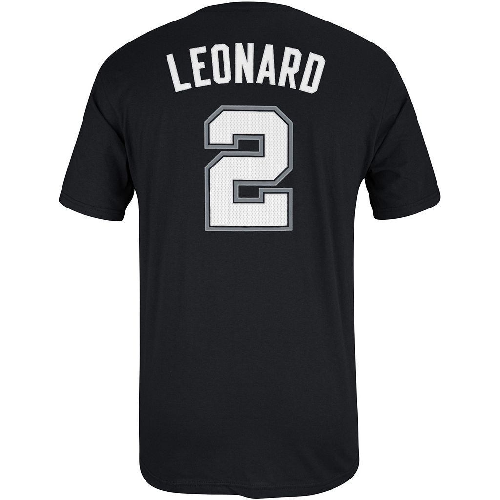 Men's adidas San Antonio Spurs Kawhi Leonard Name and Number Tee