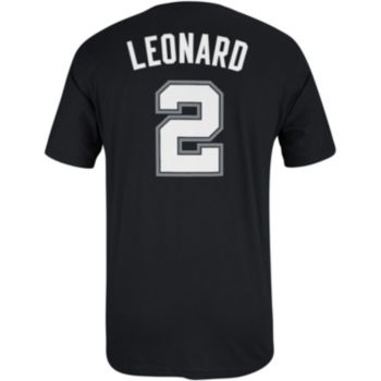 Men's adidas San Antonio Spurs Kawhi Leonard Name and Number Tee