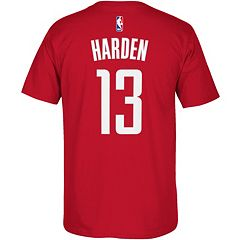 Men's adidas Houston Rockets James Harden Name and Number Tee