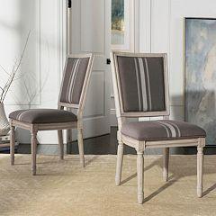 Safavieh Buchanan Upholstered Dining Chair 2-piece Set