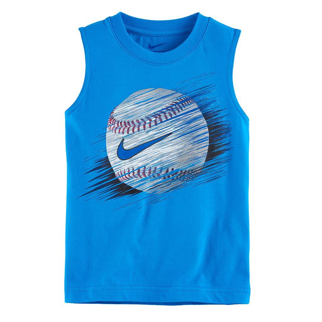 Boys 4-7 Nike Baseball Line Muscle Tee