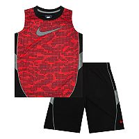 Boys 4-7 Nike Abstract Muscle Tank Top & Shorts Set