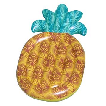 Blue Wave Tropical 86-in Pineapple Inflatable Pool Float