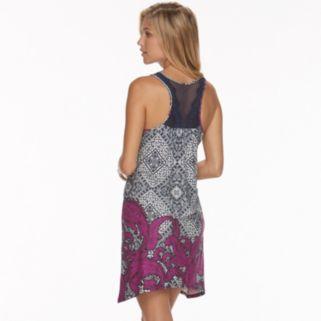 Women's Apt. 9® Pajamas: Mesh Sharkbite Hem Chemise