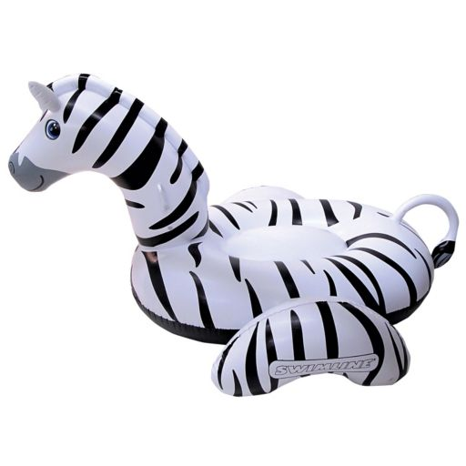 Blue Wave Giant Zebra 97-in Inflatable Ride-on Pool Float