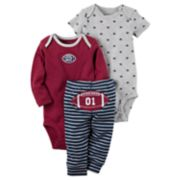 "Baby Boy Carter's ""Future MVP"" Bodysuit, Football Bodysuit & Striped Pants Set"