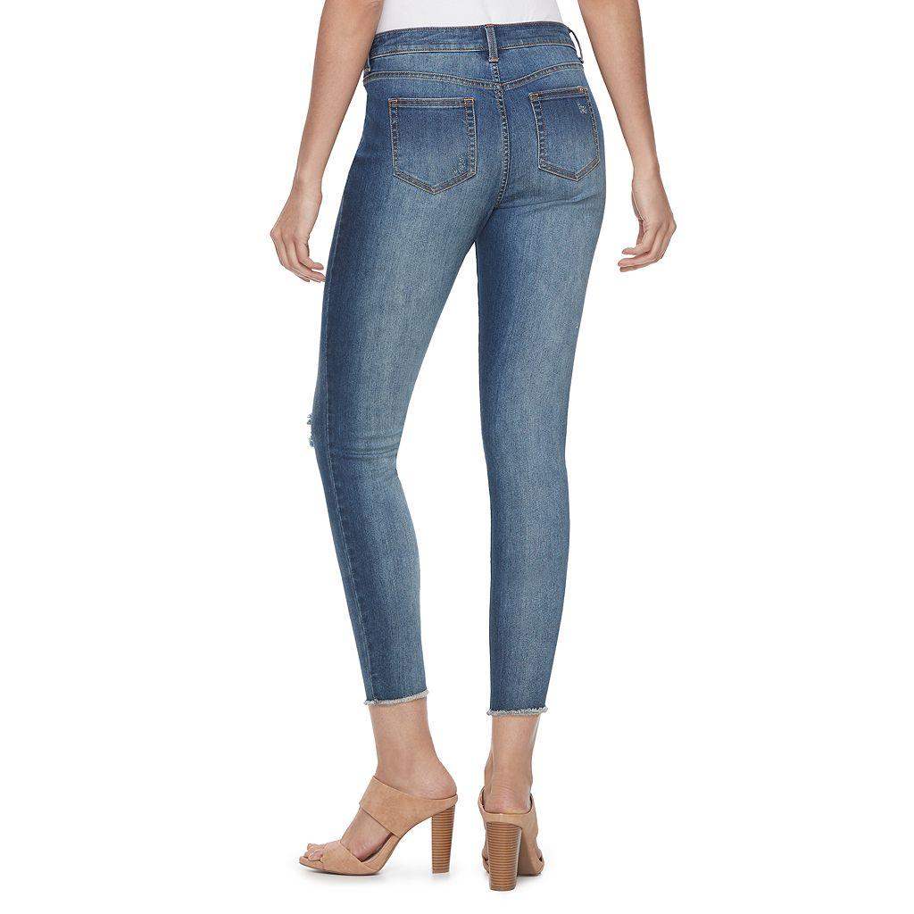 Women's Jennifer Lopez Destructed Ankle Skinny Jeans