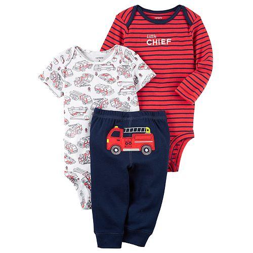 """Baby Boy Carter's """"Little Chief"""" Bodysuit, Print Bodysuit & Pants Set"""