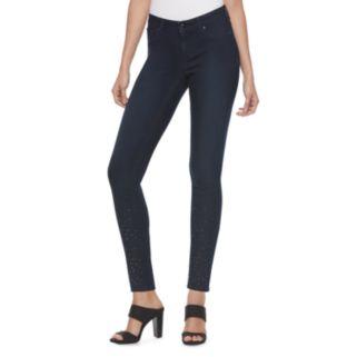 Women's Jennifer Lopez Embellished Super Skinny Jeans